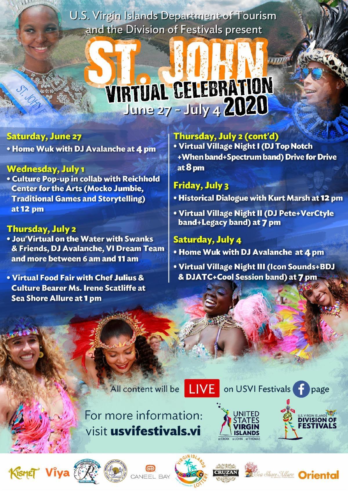 Virtual St John Celebration Schedule